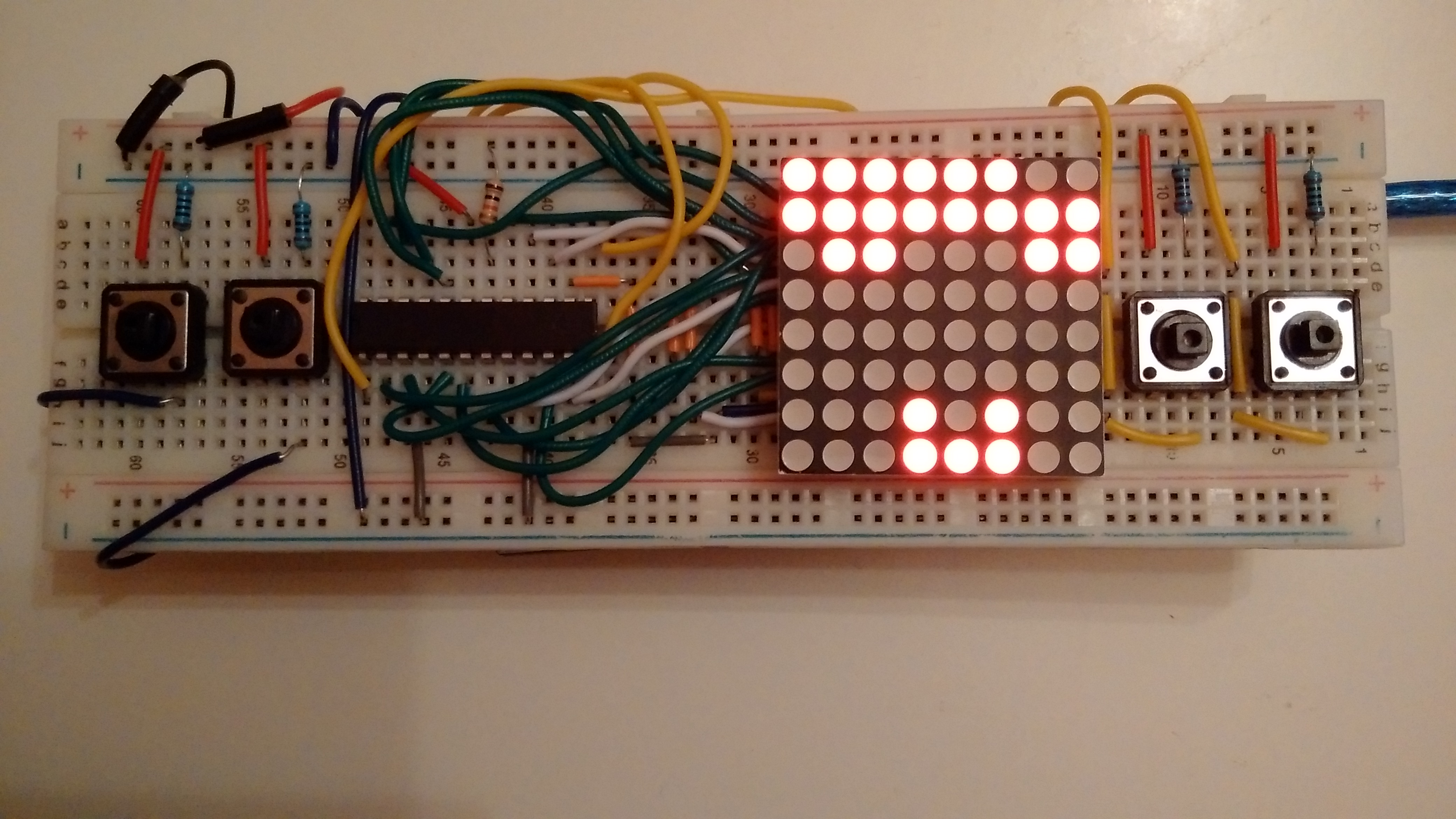 Game with 8x8 LED matrix on Arduino